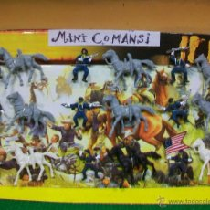 Figuras de Goma y PVC: BLISTER MINI COMANSI LITTLE BIG HORN -FIGURAS YANKEE MINI COMANSI EN BLISTER CUSTOM GENERAL CUSTER. Lote 50798063