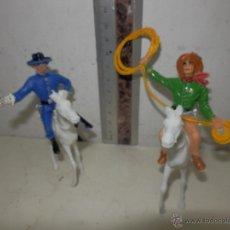 Figuras de Goma y PVC: VAQUERO Y SOLDADO CONFEDERADO COMANSI. Lote 51133428