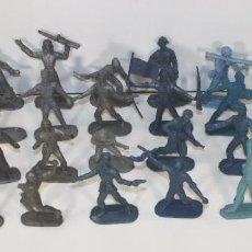 Figuras de Goma y PVC: COLECCIÓN DE 31 SOLDADOS EN PLASTICO. DETERGENTE ESE. COMANSI. CIRCA 1960.. Lote 57974859