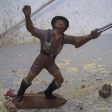 Figuras de Goma y PVC: SOLDADO INGLES DE COMANSI 1º EPOCA. Lote 58653002