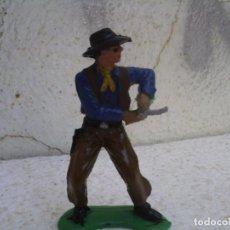 Figuras de Goma y PVC: VAQUERO DE COMANSI 1º EPOCA. Lote 77525153