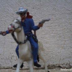 Figuras de Goma y PVC: EL LLANERO SOLITARIO Y EL CABALLO SILVER DE COMANSI. Lote 91804730