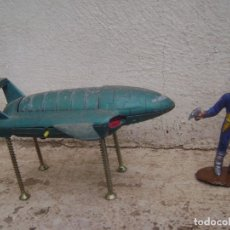 Figuras de Goma y PVC: FIGURA Y NAVE ESPACIAL DE LOS THUNDERBIRD DE ACERO. Lote 95218063
