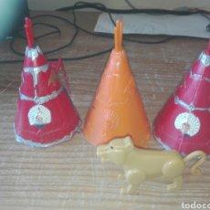 Figuras de Goma y PVC: CABAÑA INDIA LOTE . Lote 95283271