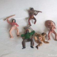 Figuras de Goma y PVC: FIGURAS INDIOS VAQUEROS COMANSI. Lote 95315463