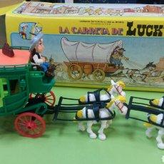 Figuras de Goma y PVC: LA CARRETA O LA DILIGENCIA DE LUCKY LUKE. Lote 97673891