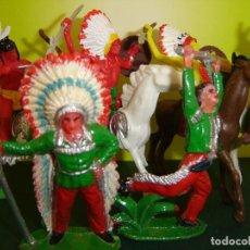 Figuras de Goma y PVC: INDIOS COMANSI. Lote 98672611