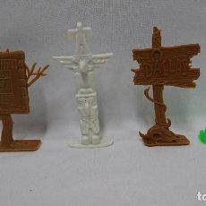 Figuras de Goma y PVC: LOTE DE 4 SEÑALES DEL OESTE COMANSI. Lote 109842983