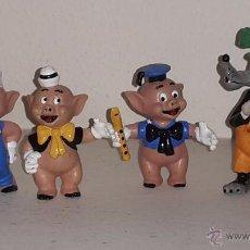 Figuras de Goma y PVC: LOTE PVC LOS TRES CERDITOS Y EL LOBO. Lote 53460302
