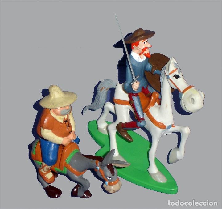 COMICS SPAIN - FIGURAS DE D. QUIJOTE & ROCINANTE, SANCHO & RUCIO - (Juguetes - Figuras de Goma y Pvc - Comics Spain)