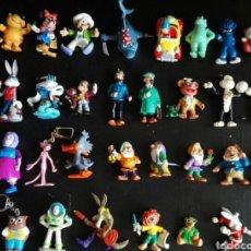 Figuras de Goma y PVC: LOTE 30 FIGURAS PVC CÓMICS SPAIN BULLYLAND TINTÍN MUPPETS WARNER BROS LOTE FIGURAS AÑOS 80. Lote 95375454