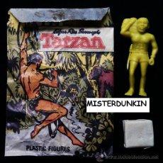 Figuras de Goma y PVC: FIGURAS DUNKIN. SOBRE ORIGINAL SERIE TARZAN. AÑOS 70.. Lote 33394059
