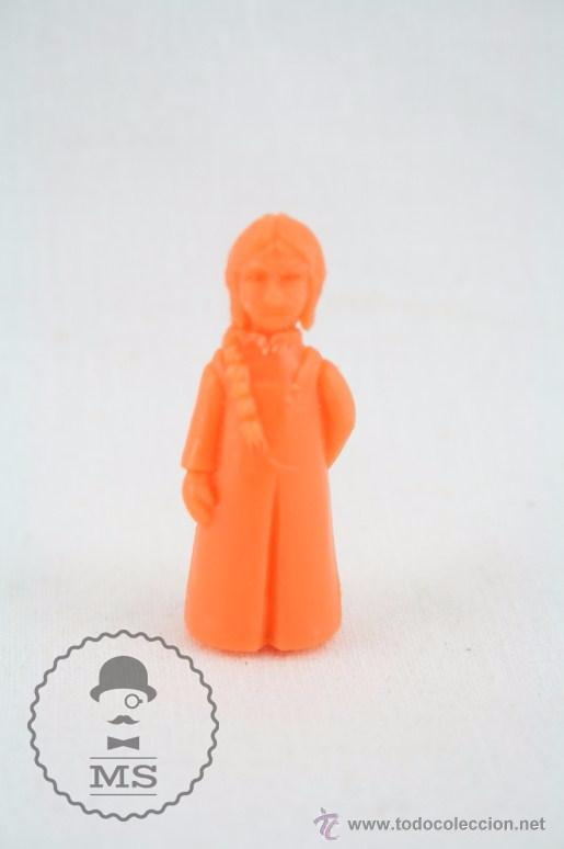 FIGURA DE PLÁSTICO - DUNKIN. RUY, EL PEQUEÑO CID. JIMENA - COLOR NARANJA - MEDIDAS 3,5 CM ALTURA (Juguetes - Figuras de Goma y Pvc - Dunkin)