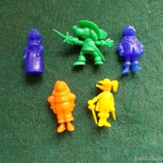 Figuras de Goma y PVC: 6 FIGURAS DIFERENTES DE DARTACAN Y LOS MOSQUEPERROS DUNKIN. Lote 57747250
