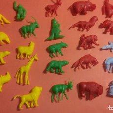 Figuras de Goma y PVC: LOTE 24 ANIMALES FIERAS ZOO DUNKIN 1967. Lote 68414169