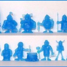 Figuras de Goma y PVC: ASTERIX Y OBELIX LOTE 18 FIGURAS DUNKIN MONOCROMATICAS COLOR AZUL. Lote 87061476