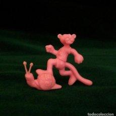 Figuras de Goma y PVC: FIGURA DUNKIN PANTERA ROSA 1984. Lote 88132824