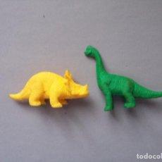Figuras de Goma y PVC: FIGURA PLASTICO FLEXIBLE LOTE DOS DINOSAURIOS DUNKIN. Lote 98841143