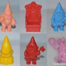 Figuras de Goma y PVC: OCASION LOTE 5 FIGURAS DUNKIN DAVID EL GNOMO PROMOCIÓN PHOSKITOS + 1 PANTERA ROSA BIMBO. Lote 98852475