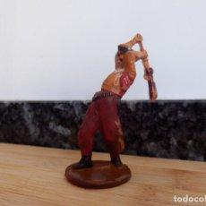 Figuras de Goma y PVC: VAQUERO GAMA OESTE EN GOMA . Lote 98551191