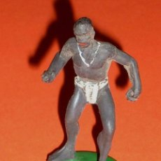 Figuras de Goma y PVC: GUERRERO NEGRO AFRICA, SAFARI JUNGLA, FABRICADO EN GOMA POR LA CASA ESPAÑOLA GAMA, ORIGINAL AÑOS 50.. Lote 101783115