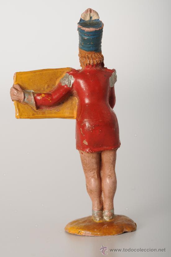 Figuras de Goma y PVC: Presentadora de espectáculos sosteniendo un cartel-anuncio del circo de Jecsan, goma, años 50 - Foto 2 - 25896384