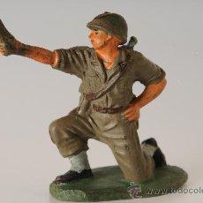 Figuras de Goma y PVC: SOLDADO AMERICANO, DE JECSAN, GOMA, AÑOS 50. Lote 26133770