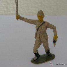 Figuras de Goma y PVC: OFICIAL JAPONES EN PLÁSTICO SERIE PUENTE SOBRE EL RIO KWAI MARCA JECSAN AÑOS 50. Lote 49574699