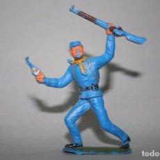 Figuras de Goma y PVC: JECSAN FIGURA SOLDADO DE LA UNION NORDISTA OESTE WESTERN. Lote 91843275