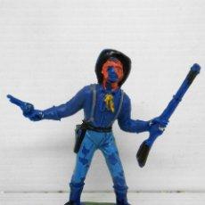 Figuras de Goma y PVC: 29. JECSAN SOLDADO CON RIFLE Y PISTOLA SEPTIMO CABALLERIA CUSTER USA SOLDIER FIGURA FIGURE FEDERALES. Lote 95819551