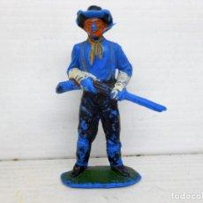 Figuras de Goma y PVC: 30. JECSAN SOLDADO CON RIFLE SEPTIMO CABALLERIA CUSTER USA SOLDIER FIGURA FIGURE FEDERALES. Lote 95819639