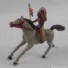 Figuras de Goma y PVC: INDIO A CABALLO REALIZADO EN GOMA, POSIBLEMENTE JECSAN, TAL Y COMO SE VE EN LAS FOTOGRAFIAS PUESTAS.. Lote 98763911