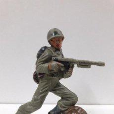 Figuras de Goma y PVC: SOLDADO AMERICANO . REALIZADO POR JECSAN . AÑOS 60. Lote 98798699