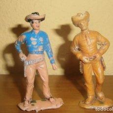 Figuras de Goma y PVC: LOTE DE DOS FIGURAS FIGURA DE PLÁSTICO PALADINES OESTE BONANZA. JECSAN.. Lote 99895275