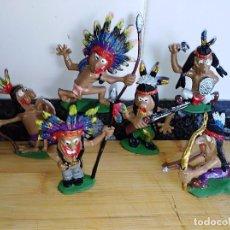 Figuras de Goma y PVC: LOTE DE FIGURAS EN GOMA BOYBIS DE JECSAN INDIOS OESTE . Lote 101447471