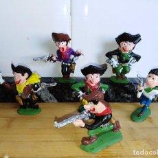Figuras de Goma y PVC: LOTE DE FIGURAS EN GOMA BOYBIS DE JECSAN VAQUEROS OESTE . Lote 101447599