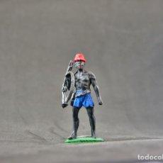 Figuras de Goma y PVC: FIGURA NEGRO CON RIFLE DEL SAFARI NEGROS.. Lote 103277823