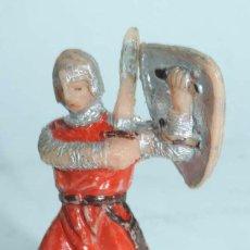 Figuras de Goma y PVC: FIGURA PLASTICO SERIE CABALLEROS MEDIEVALES, MARCA JECSAN, AÑOS 60, PINTURA ORIGINAL.. Lote 104112387