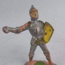 Figuras de Goma y PVC: FIGURA PLASTICO SERIE CABALLEROS MEDIEVALES, MARCA JECSAN, AÑOS 60, PINTURA ORIGINAL.. Lote 104112611