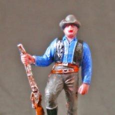Figuras de Goma y PVC: FIGURA BONANZA HOSS CON RIFLE. Lote 105729087