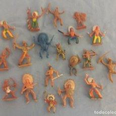 Figuras de Goma y PVC: LOTE DE INDIOS OESTE DE PLASTICO DE JECSAN COMANSI ETC ORIGINAL AÑOS 60/70. Lote 106933135