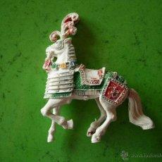Figuras de Goma y PVC: CABALLO MEDIEVAL DE LAFREDO. Lote 45632355