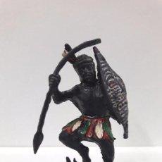 Figuras de Goma y PVC: GUERRERO AFRICANO NEGRO . SERIE TARZAN . REALIZADO POR LAFREDO . AÑOS 50 EN GOMA. Lote 97517247