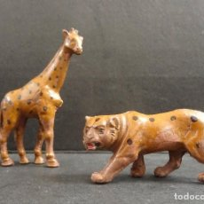 Figuras de Goma y PVC: LAFREDO ANIMALES DE LA SELVA JIRAFA Y TIGRE GOMA. Lote 109038967