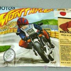 Figuras de Goma y PVC: SOBRE MONTAPLEX MONTA PLEX MOTOS MOTO HONDA SERIE MUNDIALES GRANDES PREMIOS. Lote 101988068