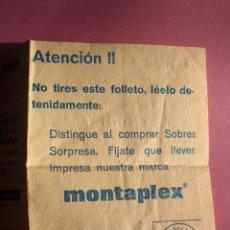 Figuras de Goma y PVC: MONTAPLEX FOLLETO PUBLICITARIO VENÍA DENTRO DEL SOBRE LETRA E COMPLETA Y CONSIGUE REGALO.. Lote 53767718