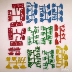 Figuras de Goma y PVC: LOTE COLADAS MONTAPLEX SERJAN - OESTE MILITAR - KIOSKO AÑOS 70´S. Lote 68125177