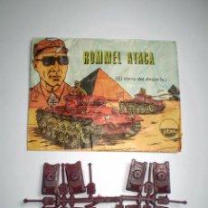 Figuras de Goma y PVC: LOTE MONTAPLEX - SOBRE Nº 1005 ROMMEL ATACA VACÍO CON SU CONTENIDO ORIGINAL. Lote 74165255