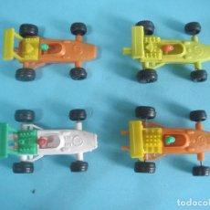 Figuras de Goma y PVC: MONTAPLEX- LOTE DE 4 COCHES DE FORMULA 1-SERIE 200-HONDA,BMW,FORD,FERRARI-AÑOS 70/80. Lote 77896005