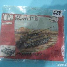 Figuras de Goma y PVC: MONTAPLEX- SOBRE CERRADO- TANQUE PESADO M-43- SERIE 600-Nº628. Lote 80307229